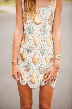 Mermaid scale dress. Beautiful but needs to be way longer