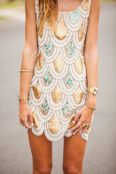 Mermaid scale dress by The Oxford Trunk