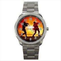 NEW* HOT STAR WARS FIGHT Quality Sport Metal Wrist Watch Gift D02