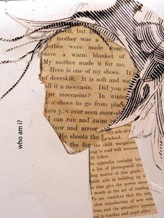 Making faces Cathy Michaels Design - I like the combination of text and drawing . Kunstjournal Inspiration, Art Journal Inspiration, Art Journal Pages, Art Journals, Art Journal Covers, Diy Journal Cover Ideas, Journal Ideas, Mixed Media Collage, Collage Art