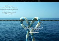 ''Sail Your Myth'' sailing services at Thessaloniki, Greece, a Minimal Advertising company web design.