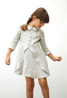 MOTORETA-SS15-LBK-01-Luna Dress.  Super cute linen dress with nice details and zipper back.