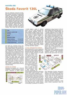 ABC Skoda Favorit 136L - model of the Czechoslovak passenger car of the 90s of the XX century from paper download free of charge without registration