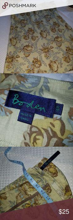 Boden linen skirt Floral Boden linen skirt Boden Skirts Midi