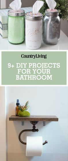 Save these DIY bathroom projects for later by pinning this image and follow Country Living on Pinterest for more.