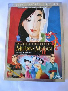Disney Mulan/Mulan II 15th Anniversary Special Edition Blu-Ray New Sealed