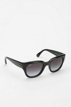 Style - Minimal + Classic: Ray-Ban Thick Cat-Eye Sunglasses
