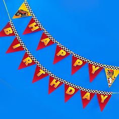 Blazing Birthday Party Banner