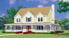 House Plan 95274 | Country Farmhouse Plan with 2295 Sq. Ft., 4 Bedrooms, 3 Bathrooms, 2 Car Garage at family home plans