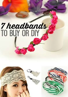 7 Headbands to Buy or DIY Teen Girl Crafts, Diy Crafts For Kids, Sewing Projects, Diy Projects, Crafts With Pictures, Operation Christmas Child, Types Of Craft, Dollar Store Crafts, Craft Sale
