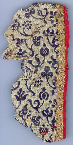 Textile Date: ca. 1500 Culture: Italian Medium: Wool, silk Dimensions: Overall: 6 1/4 x 3 1/8in. (15.9 x 7.9cm)