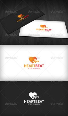 Heartbeat Logo — Vector EPS #life #beat • Available here → https://graphicriver.net/item/heartbeat-logo/2551651?ref=pxcr
