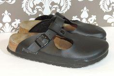 Birkenstock size 39 Womens 8 Mens 6 Black Slip On Shoes Adjustable Vintage    Very good vintage condition        Ships via USPS Priority Shipping