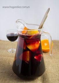 Hogar diez: Sangría de vino Bar Drinks, Wine Drinks, Cocktail Drinks, Alcoholic Drinks, Beverages, Sangria Recipes, Drinks Alcohol Recipes, Refreshing Drinks, Yummy Drinks