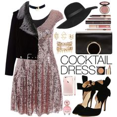 Cocktail Dress - Romwe by oshint on Polyvore featuring polyvore, fashion, style, La Bête, Chloé, River Island, Charlotte Russe, Topshop, Lancôme and Clarins