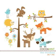 Woodland Baby Free Clipart