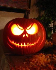 #ThinkGeekoween (: Jack Skellington pumpkin!
