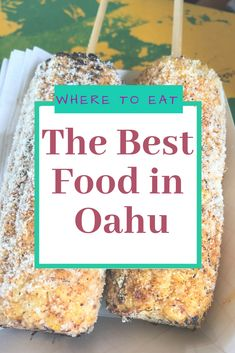 Where to eat in Oahu - Hawaii food - For the all the adventurous foodies visiting Oahu, I created a must eat guide. Hawaiian cuisine is an unique fusion from different cultures around the world. Hawai'i has adopted cuisine from… - Oahu Hawaii, Kauai, Visit Hawaii, Hawaii Honeymoon, Hawaii Life, Hawaii Beach, Big Island Hawaii, Pearl Harbor, Roadtrip Tips