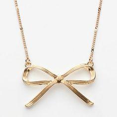 LC Lauren Conrad Gold Tone Bow Necklace