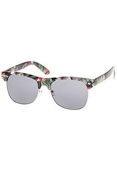 abf2362beb4 Glassy Sunglasses The Shredder Sunglasses in Black Floral -  Sunglasses  Back To School