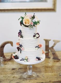 White Buttercream Cake Flowers Whimsical Pretty Floral Wonderland DIY Wedding http://www.victoriaphippsphotography.co.uk/