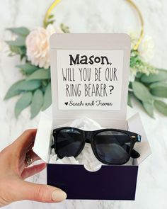 Asking Groomsmen, Groomsmen Gift Box, Groomsmen Proposal, Bridesmaid Proposal, Groomsman Gifts, Ring Bearer Gifts, Ring Bearer Box, Ring Bearer Ideas, Ring Bearer Security