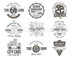 Find Vintage Car Service Badges Garage Repair stock images in HD and millions of other royalty-free stock photos, illustrations and vectors in the Shutterstock collection. Car Repair Service, Auto Service, S Car, Car Set, Garage Logo, Garage Repair, Tyre Shop, City Car, Vintage Cars