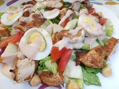 Grilled Chicken and Salad with Russian Dressing