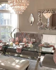 Dining Room Console, Dining Room Table Decor, Decor Home Living Room, Glam Living Room, Elegant Dining Room, Luxury Dining Room, Elegant Home Decor, Dining Room Design, Home Decor Furniture