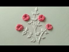 Hii Guys, today i will show you how to make hand embroidery design. In this video i make a beautiful pink roses from woven wheel stitch and white leafs from . Hand Embroidery Designs, Embroidery Stitches, Embroidery Patterns, Stitch Patterns, Beautiful Pink Roses, Dress Patterns, Smocking, Needlework, Hands