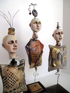 Lisa Renner - wonderful mixed media art dolls    ...BTW,Check this out:  http://artcaffeine.imobileappsys.com