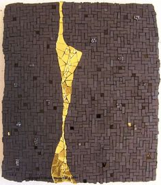 Mosaic fine art - stunning (black and gold ♥)