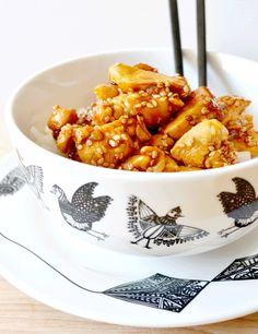 Poulet au sésame et sauce soja Chicken Recipes, No Salt Recipes, Cooking Recipes, Food Porn, Japanese Food, Chinese Food, Asian Recipes, Healthy Recipes, Ethnic Recipes