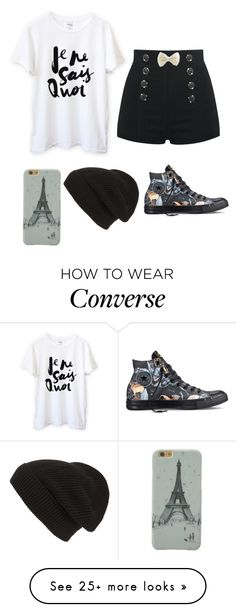 """""""I love...Food!"""" by xxabbeybearxx on Polyvore featuring Converse and Phase 3"""