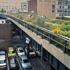 High line park NYC. Kiedyś i polskie miasta dojrzeją do takich preferencji. Landscape Designs, Landscape Architecture, High Line Park, Green Corridor, Visiting Nyc, Line Photo, Cultural Capital, Mood Images, Kochi