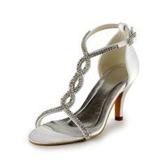 Wedding Shoes - $65.49 - Women's Leatherette Stiletto Heel Sandals With Buckle Rhinestone  http://www.dressfirst.com/Women-S-Leatherette-Stiletto-Heel-Sandals-With-Buckle-Rhinestone-047005860-g5860