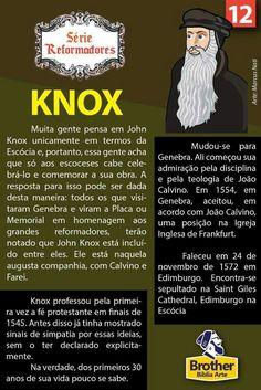 Knox Reformed Theology, Reformation, Bible Verses, Prayers, Knowledge, Study, Faith, God, Feelings