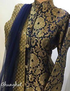 Chanderi suits Elegant Indian salwar kemeez Click visit link for more info Salwar Designs, Kurti Neck Designs, Blouse Designs, Dress Designs, Punjabi Fashion, Bollywood Fashion, Indian Fashion, Pakistani Outfits, Indian Outfits