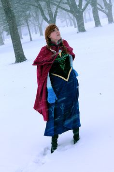 dr3amingofdisn3y:  piratica:  A frozen day for Frozen cosplay. Took advantage of Saturday's snowstorm to get some shots as Anna. More pics t...