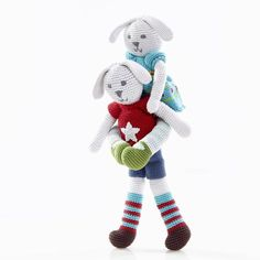 Pebble Spotted!  #Pebble Bunny Boy and Girl are BFF's  . Well at least until one of them find a new BFF with a little boy or girl. These bunnies make wonderful gifts for newborns and toddlers alike. They are quite big at approximately 37cm from head to toe and are lovely for cuddling. All Pebble products are made in Bangladesh by the extremely talented and capable artisans at Hathay Bunano. To see our range of cute handmade Pebble products go to http://ift.tt/2rX01f2  #wfto #pebblechild…