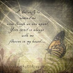 A Butterfly To Remind Me v. 2 by KarenLeighStudios on Etsy Miss You Daddy, Miss My Mom, Butterfly Poems, Butterfly Symbolism, Butterfly Meaning, Butterfly Art, Butterfly Gifts, Butterfly Template, Butterfly Kisses