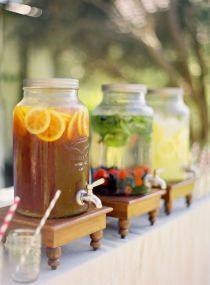 Homemade Iced Teas and lemonades - might be a nice option and easy!