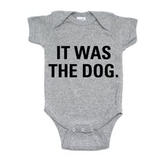 Heather grey short sleeve bodysuit Onesie Sizes available Newborn through 12 Months Dog Onesies, Baby Shirts, Funny Babies, Cute Babies, Baby Kids, Baby Momma, Baby Love, Aunt Onesie, Boy Outfits