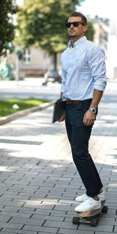 Trendy Casual Shoes For Men Style 2019 02 Formal Men Outfit, Casual Outfits, Formal Outfits, Casual Shoes, Men's Outfits, Mens Fashion Blog, Men's Fashion, Business Casual Men, Men Casual