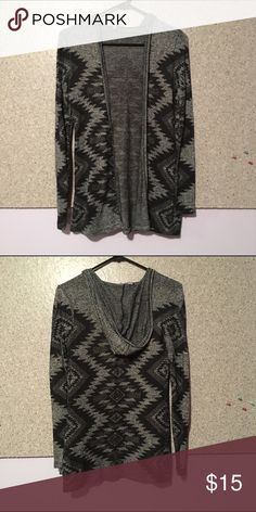 Hooded Aztec Cardigan I wore this quite a bit but it is still in great condition! No signs of wear and still perfect! It is super cute and can wear it with a bring tank top under! Charlotte Russe Tops Sweatshirts & Hoodies