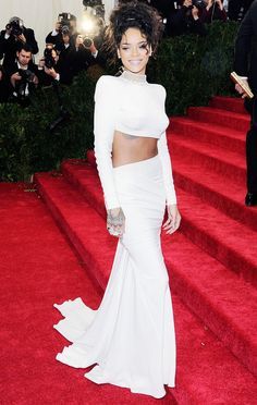 Rihanna in a Stella McCartney ensemble at the 2014 Met Gala