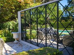 The Repeat Range of outdoor mirrors from Rivas Design were created with landscaping in mind, offering a unique style and versatility that will stand the test of time in any garden design. Outdoor Mirrors Garden, Outdoor Topiary, Garden Mirrors, Outdoor Rooms, Outdoor Walls, Outdoor Gardens, Mirrors In Gardens, Backyard Garden Design, Patio Design