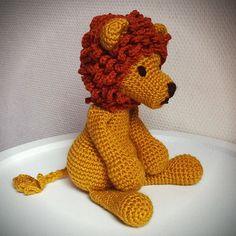 Doudou lion au crochet à la crinière rousse : Jeux, jouets par filiz-the-cat