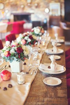 Style Concept #luxury #wedding #concept in deep red, #pink and #peach- EverAfter