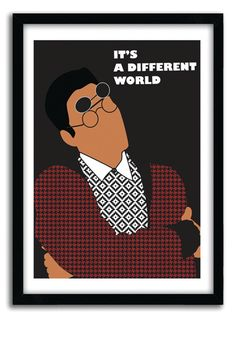 Classic tv Poster - It s A Different World Dwayne Wayne hip hop poster fun cool poster geekry Poster A Different World, Hip Hop Art, Paint And Sip, Black Girl Art, Afro Art, A4 Poster, African American Art, Vintage Design, Classic Tv